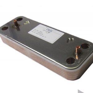 Теплообменник ГВС пластинчатый вторичный на 10 пластин для BAXI Eco Four 24F